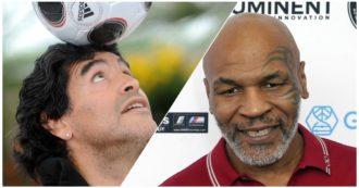 """Mike Tyson torna sul ring e omaggia Maradona: """"Era uno dei miei eroi, oltre che amico"""". Il ricordo di quel magico 1986"""