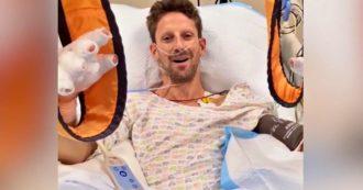 "Incidente in Bahrein, Grosjean dall'ospedale: ""Senza Halo non sarei qui a parlarvi"""