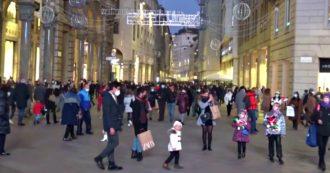 Milano torna in zona arancione: vie del centro affollate e code fuori dai negozi – Video