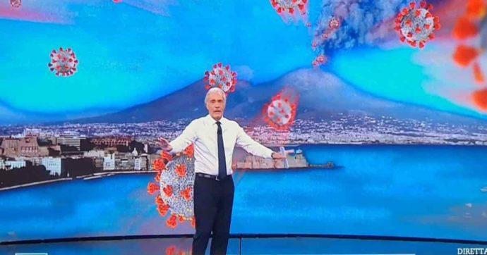 """Non è l'Arena, il Vesuvio che erutta Covid scatena le polemiche: """"Che schifo, Giletti fa propaganda leghista"""""""