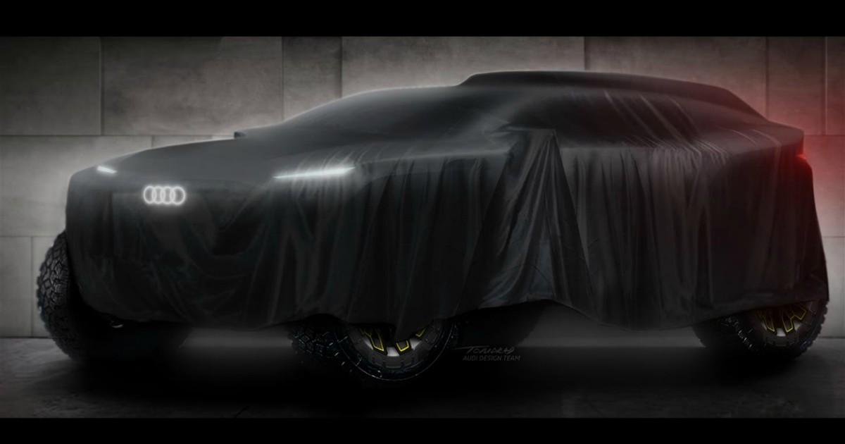 Audi, nuova sfida alla Dakar nel 2022. La prima immagine del prototipo elettrico