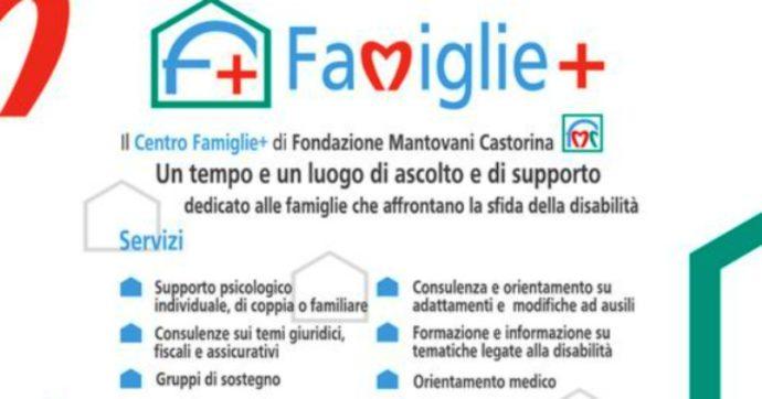 Supporto psicologico, consulenze e orientamento: nasce il Centro Famiglie+ che aiuta (gratis) chi ha figli con grave disabilità