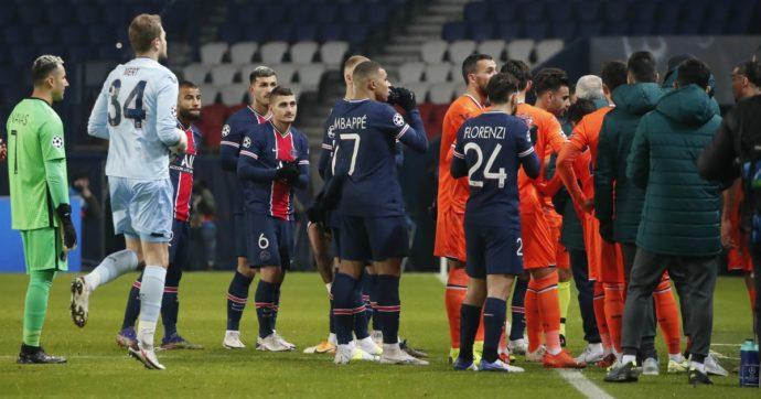 Psg-Basaksehir sospesa: le squadre lasciano il campo dopo la frase razzista del quarto uomo Coltescu al vice-allenatore dei turchi Webo