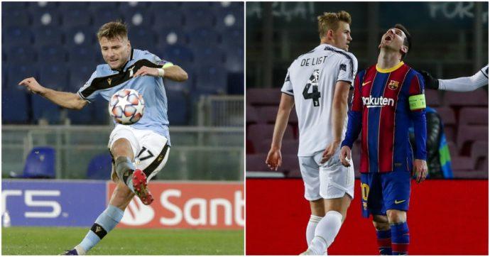 Impresa della Juventus al Camp Nou: 3-0 al Barcellona, bianconeri primi nel girone. La Lazio torna agli ottavi dopo vent'anni