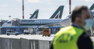 """Sciopero trasporto aereo, presidi a Fiumicino e nei principali scali. """"Settore colpito, ma nessuna proroga del blocco dei licenziamenti"""""""