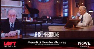 """Vittorio Feltri a La Confessione (Nove) di Peter Gomez: """"Laura Boldrini censurata da mio figlio Mattia? Io ho pubblicato il suo articolo su Libero: non ho paura di lei"""""""