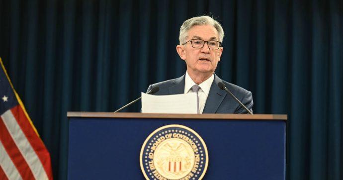 """Powell (Fed) ammette: """"Possibile temporanea ripresa dell'inflazione"""". Tassi sui titoli di Stato ai massimi da un anno e borse Usa in rosso"""