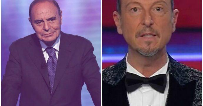 """Sanremo Giovani finisce a notte fonda e Bruno Vespa si arrabbia con Amadeus: """"Ci sono programmi più importanti del nostro"""""""