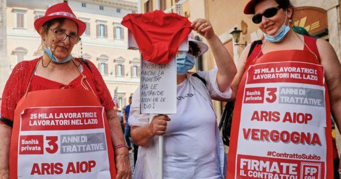 """Sanità privata, in Lazio sette strutture non applicano il rinnovo del contratto. Dipendenti: """"Ancora niente aumento dopo 14 anni"""""""
