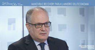 """Recovery, Roberto Gualtieri a La7: """"La Task Force andava costituita, sarà fatta con un decreto. L'Ue chiede che ci sia una governance"""""""