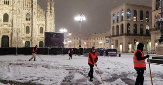 Milano, la città si risveglia sotto la neve: scatta il piano d'emergenza – Video