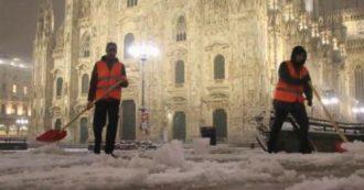 Neve al Nord – Da Milano a Torino: le città imbiancate e i disagi per il traffico. 38 treni cancellati tra Lombardia e Piemonte | FOTO