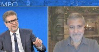 George Clooney from Fabio Fazio, Lega and Fratelli d'Italia: