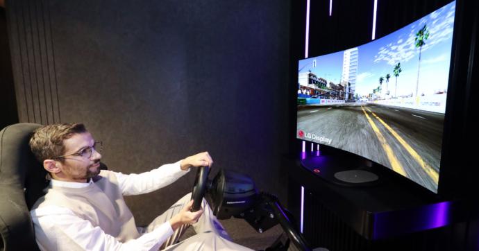 LG presenterà un monitor gaming OLED flessibile al CES 2021