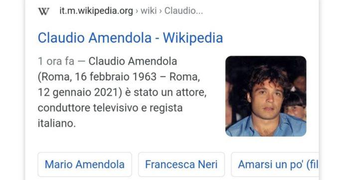 """""""È morto Claudio Amendola"""": la fake news su Wikipedia. Ecco cosa c'è dietro"""