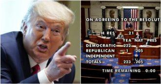 Usa, la Camera approva la risoluzione per chiedere il 25esimo emendamento contro Trump – Video