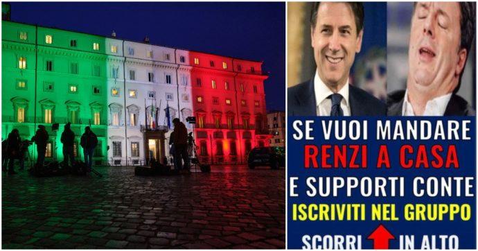 """Il caso della storia sul profilo del premier: """"Se vuoi mandare Renzi a casa e supporti Conte, iscriviti al gruppo"""". Lo staff: """"Mai autorizzata"""""""