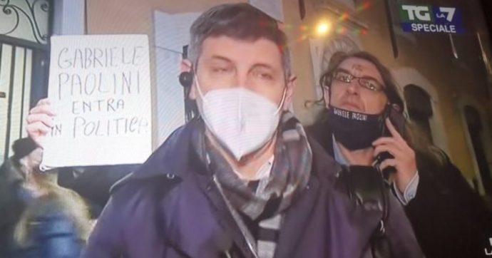 Maratona Mentana, Gabriele Paolini tormenta Paolo Celata per tutta la diretta. Il direttore del TgLa7 reagisce così