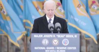 Usa, Joe Biden si commuove nell'ultimo discorso prima del giuramento e cita James Joyce – Video