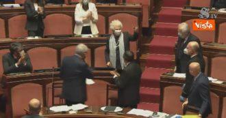 Crisi di Governo, tutti in piedi per accogliere Liliana Segre. Il lungo applauso dell'Aula per la senatrice a vita a Palazzo Madama