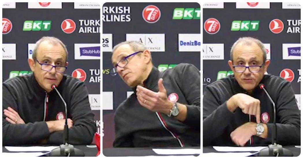 """L'allenatore avversario arriva in ritardo, Ettore Messina sbotta: """"Se non ti va bene, vai a casa"""""""
