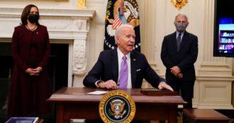 """Biden: """"La crisi si aggrava. Il Covid farà 600mila morti"""". Nuove misure per l'economia, salario minimo a 15 dollari, dimezzare la povertà minorile"""