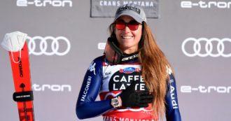 Sofia Goggia trionfa ancora: vince la discesa a Crans Montana e conquista la vittoria numero 100 nella storia dello sci alpino femminile