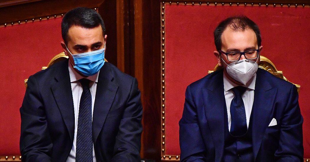 """Di Maio: """"Quello sulla giustizia è un voto sul governo non solo su Bonafede. Riforma della prescrizione non si tocca. Se non troviamo una maggioranza? Scivoliamo verso le elezioni"""""""