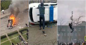 Paesi Bassi, scontri e devastazioni durante le proteste contro le restrizioni: filmati da Eindhoven