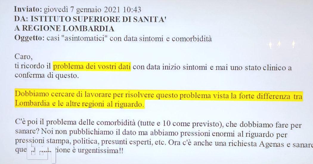"""L'email del 7 gennaio in cui l'Iss avvertiva la Lombardia: """"Ricordo il problema dei vostri dati"""". La richiesta di rettificare l'Rt è arrivata il 22"""