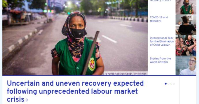 """Organizzazione internazionale del lavoro: """"Nel 2020 in Italia perso il 13,5% delle ore lavorate. Impatto più pesante su redditi degli autonomi"""""""