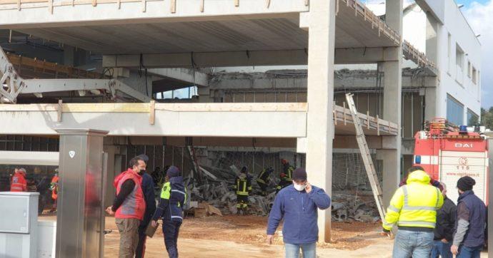 Crolla solaio di un capannone nel Brindisino: un morto. Quattro operai estratti vivi dalle macerie: uno è in pericolo di vita