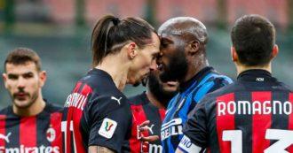 """""""Vai a fare i riti voodoo, piccolo asino"""". Ibrahimovic provoca Lukaku: rissa sfiorata nel derby di Coppa Italia tra Inter e Milan"""