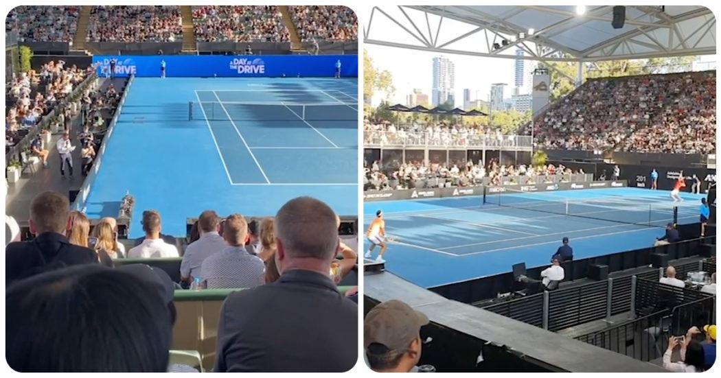 """Tifosi sugli spalti e zero mascherine: la """"lezione"""" dell'Australia che ospita il primo Grande Slam – Video"""