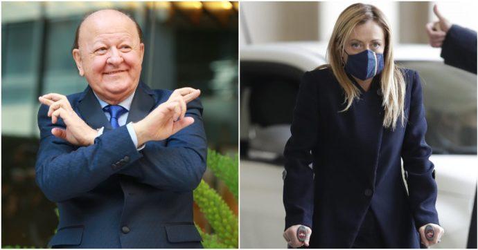"""Massimo Boldi, """"Cipollino"""" sta con Giorgia Meloni: """"Mi piacerebbe come premier"""""""