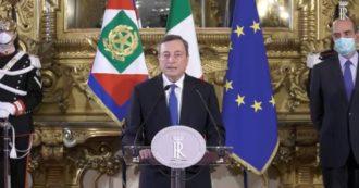"""Draghi dopo il colloquio con Mattarella: """"Mi rivolgerò al Parlamento. Fiducioso che dal confronto con i partiti emerga responsabilità"""""""