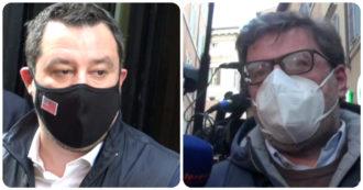 """Draghi, Giorgetti: """"È un fuoriclasse come Ronaldo, non può stare in panchina"""". Salvini: """"Ora scelga tra noi e Grillo"""""""