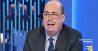 """Zingaretti a La7: """"Berlusconi nel governo Draghi insieme a noi? Penso che vada bene nello spirito dei partiti europeisti"""""""