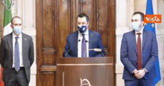 """Consultazioni, Salvini: """"Con Draghi sintonia sull'idea di sviluppo del Paese. Non abbiamo posto veti né su persone, né su idee"""""""