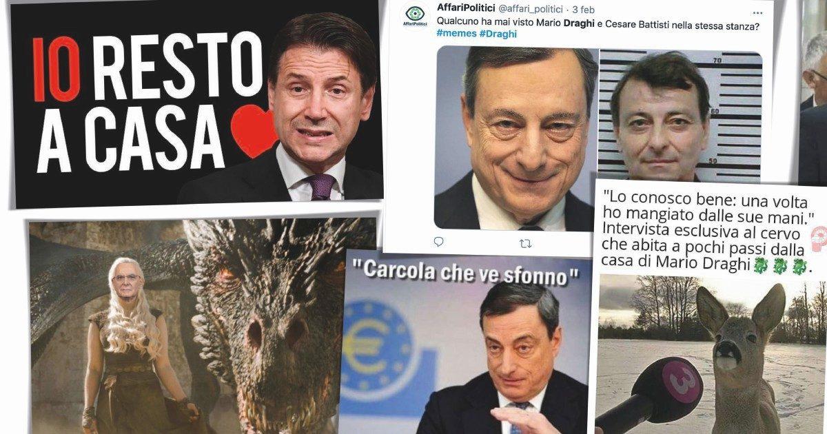 """""""Per Conte non è finita"""" , """"Per Draghi serve aiuto"""""""