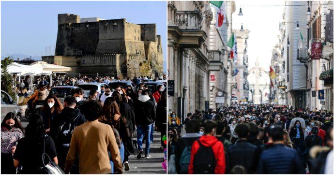 Covid, da Napoli a Roma: ristoranti pieni e folla a passeggio nel primo weekend di zona gialla. Nella Capitale chiusure in vie del centro