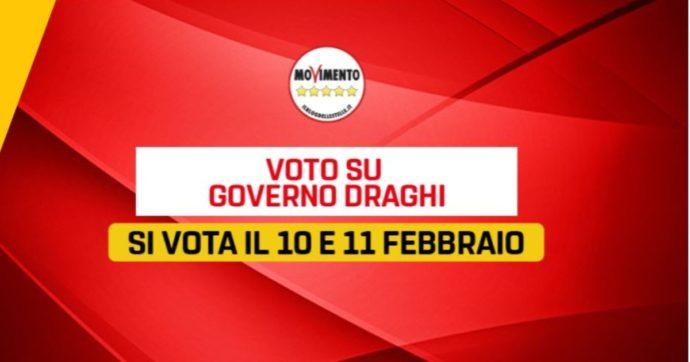 Governo Draghi, sul supporto del Movimento 5 stelle decideranno gli iscritti: il voto online su Rousseau dal 10 all'11 febbraio