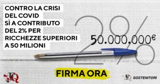 Tassa sulle grandi ricchezze, coro di consensi a livello internazionale. La petizione de ilfattoquotidiano.it a 75mila firme: obiettivo 100mila!