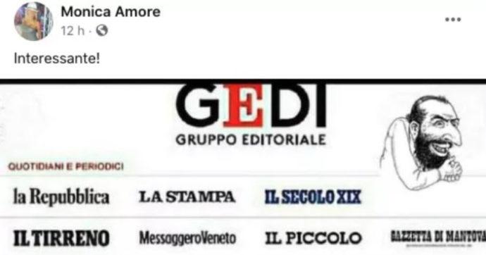 """Torino, consigliera M5s condivide post sul gruppo Gedi con una caricatura antisemita. Appendino: """"Grave e inaccettabile"""""""