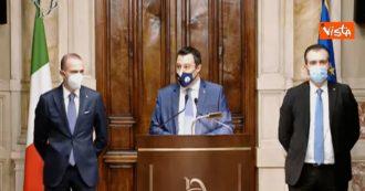 """Governo Draghi, Salvini: """"Sul Recovery fund c'è un cambio di atteggiamento e di fiducia della Lega"""""""