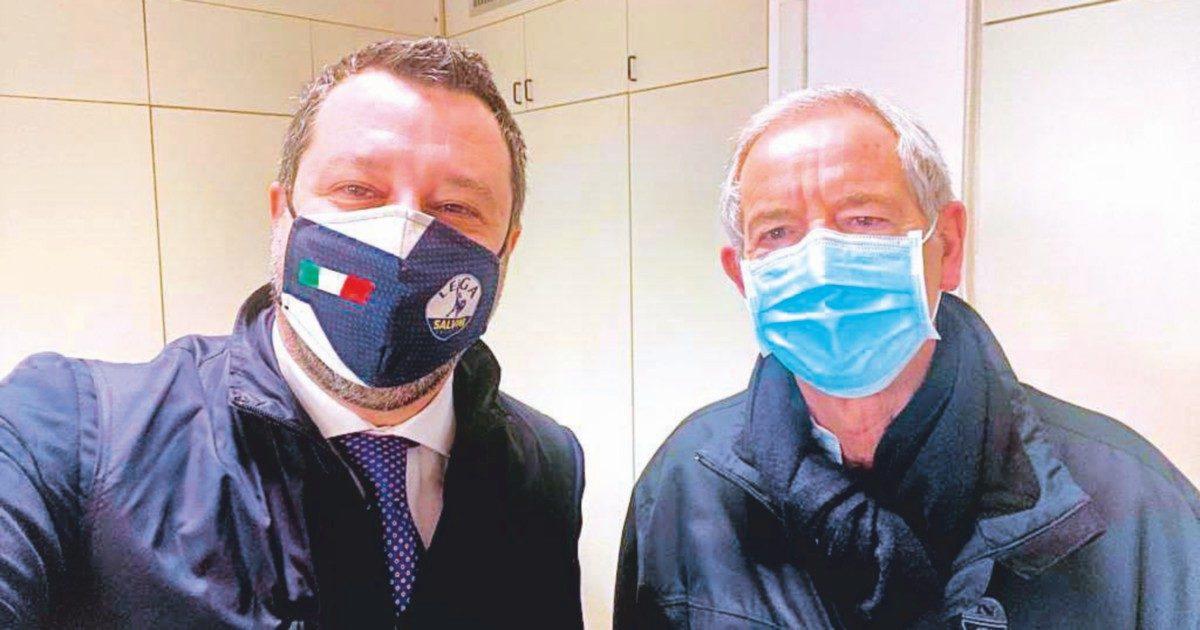 """Salvini: il primo pacco a Draghi è il """"modello-vaccini Bertolaso"""""""