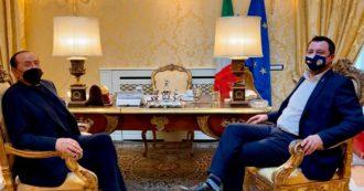 """Colloquio tra Salvini e Berlusconi a Villa Grande: """"Lega e Fi daranno un contributo al governo Draghi senza porre veti"""""""
