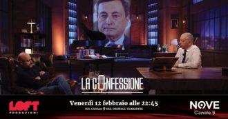 """Gianluigi Paragone a La Confessione (Nove) di Peter Gomez: """"Draghi? Nessuna svolta keynesiana: resta profondamente neoliberista"""""""