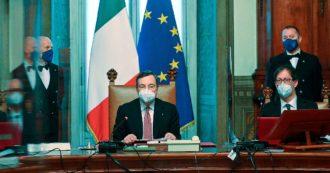 """Draghi: """"Governo ambientalista. Storie diverse ma unità è dovere"""". Le prossime tappe: fiducia, appuntamenti Ue e misure anti-Covid"""