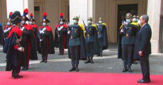 Governo, Mario Draghi a palazzo Chigi per il passaggio di consegne con Giuseppe Conte (video)